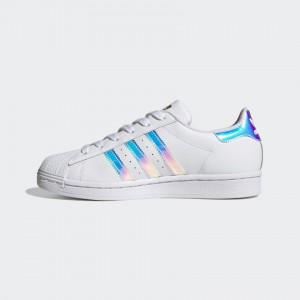 ADIDAS SUPERSTAR 'IRIDESCENT' CLOUD WHITE / GOLD METALLIC
