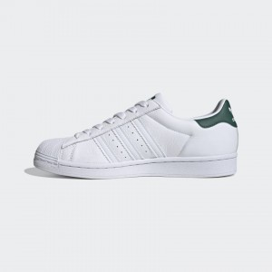 ADIDAS ORIGINALS SUPERSTAR CLOUD WHITE / COLLEGIATE GREEN