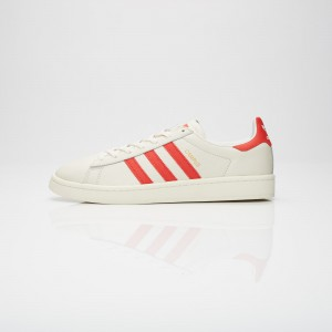 ADIDAS CAMPUS CHALK WHITE / BOLD ORANGE / CREAM WHITE