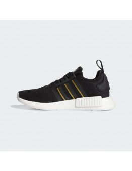 ADIDAS NMD_R1 CORE BLACK / GOLD METALLIC / CRYSTAL WHITE