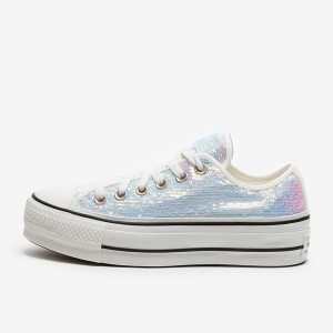 CONVERSE CHUCK TAYLOR ALL STAR PLATFORM LOW MINI SEQUINS