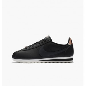 NIKE WMNS CLASSIC CORTEZ LEATHER BLACK / METALLIC RED BRONZE