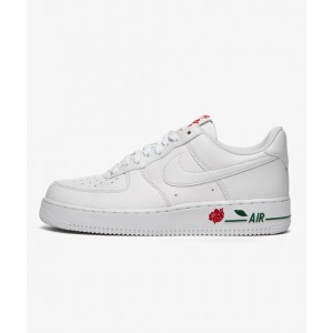 NIKE AIR FORCE 1 '07 LX WHITE/WHITE-UNIVERSITY RED-PINE GREEN