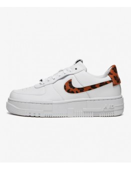 NIKE AIR FORCE 1 PIXEL WHITE / LEOPARD