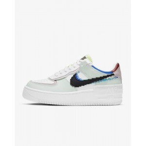 NIKE WMNS AIR FORCE 1 SHADOW SE 'PIXEL SWOOSH - BARELY GREEN'