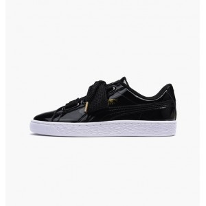 PUMA BASKET HEART PATENT W BLACK