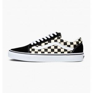 VANS OLD SKOOL PRIMARY CHECK BLACK/WHITE CHECKERBOARD
